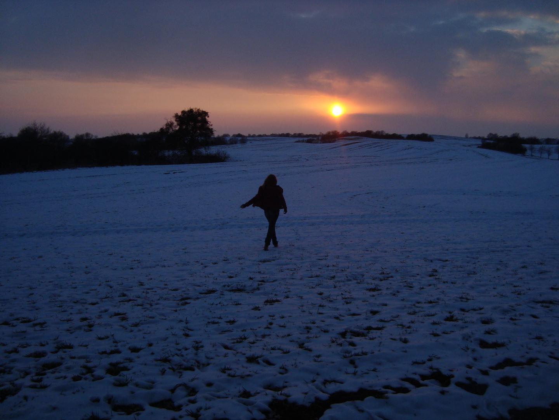 Und so schreitet sie in den Sonnenuntergang hinein...