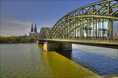 Und wieder die Hohenzollernbrücke!