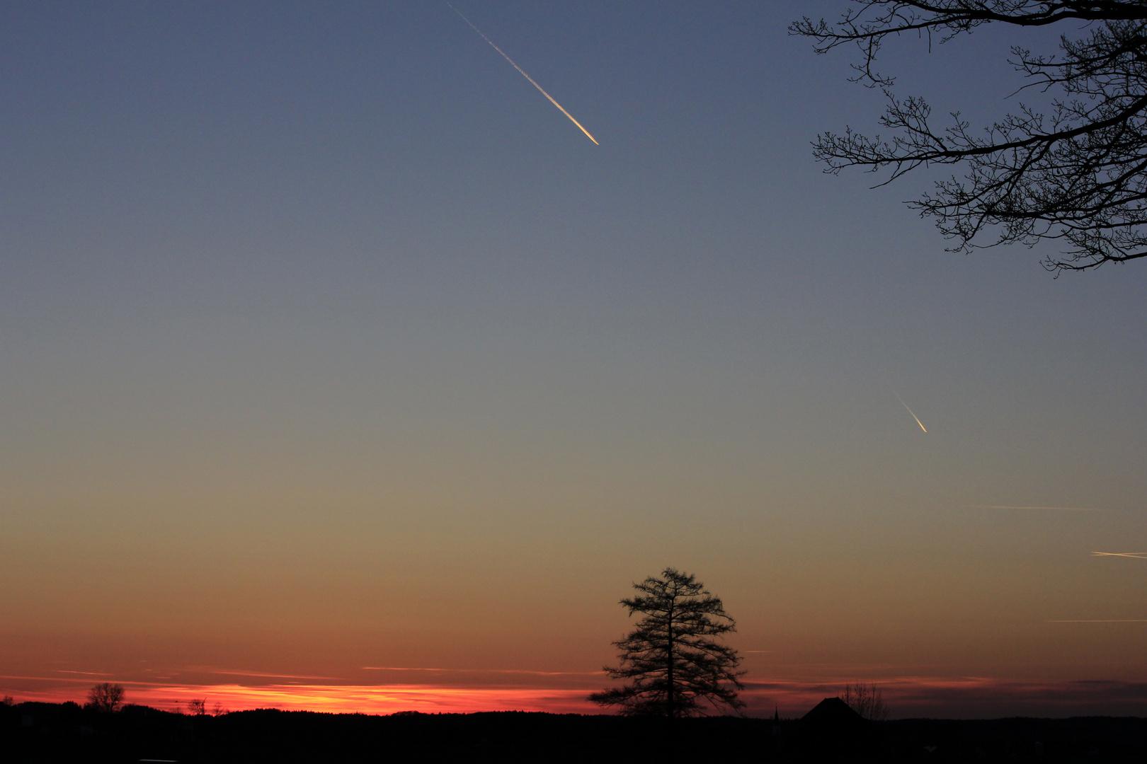 ...und wieder ein Sonnenuntergang