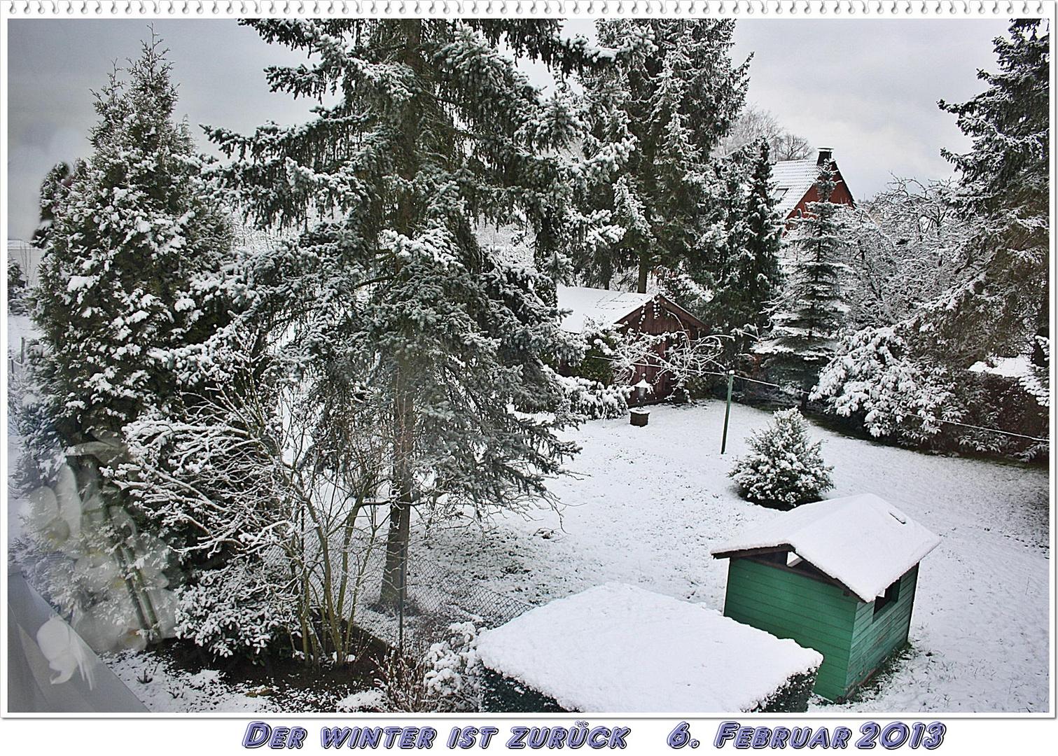 Und wieder hat es geschneit...