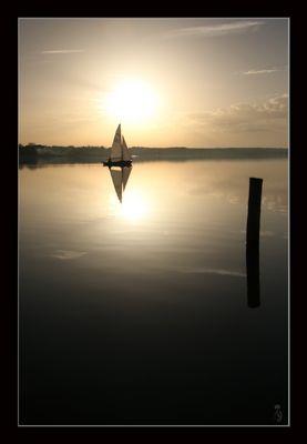 Und wir segeln in den Sonnenuntergang...