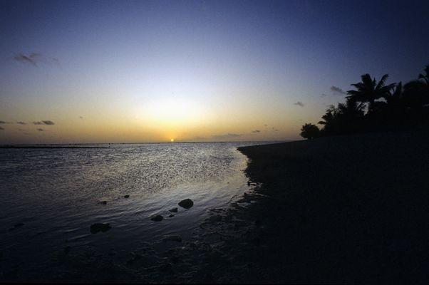 Und zum 1000sten mal: Sonnenuntergang in der Südsee
