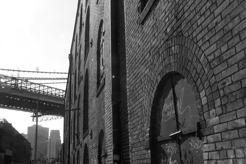 under the bridge on the brooklyn side