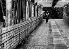 ...under the rain...
