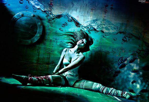 ...under water...