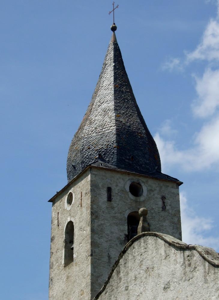 Une autre curiosité Ariègeoise église de Caumon