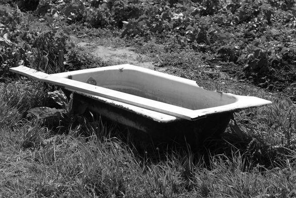 Une baignoire dans un potager (Damgan - 56)
