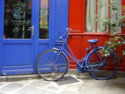 une bicyclette presque patriotique