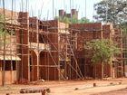 Une construction à Auroville