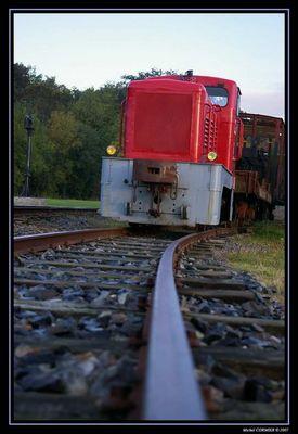 Une locomotive rouge