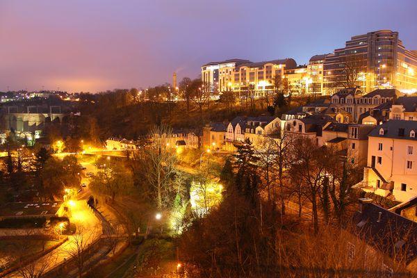 une nuit à Luxembourg