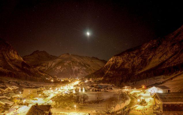 une nuit à Val d'Isère.