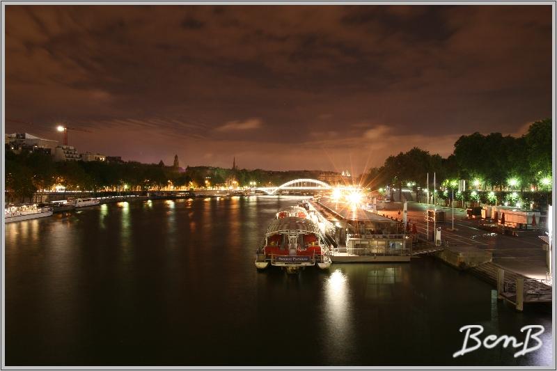 une nuit sur un pont de Paris