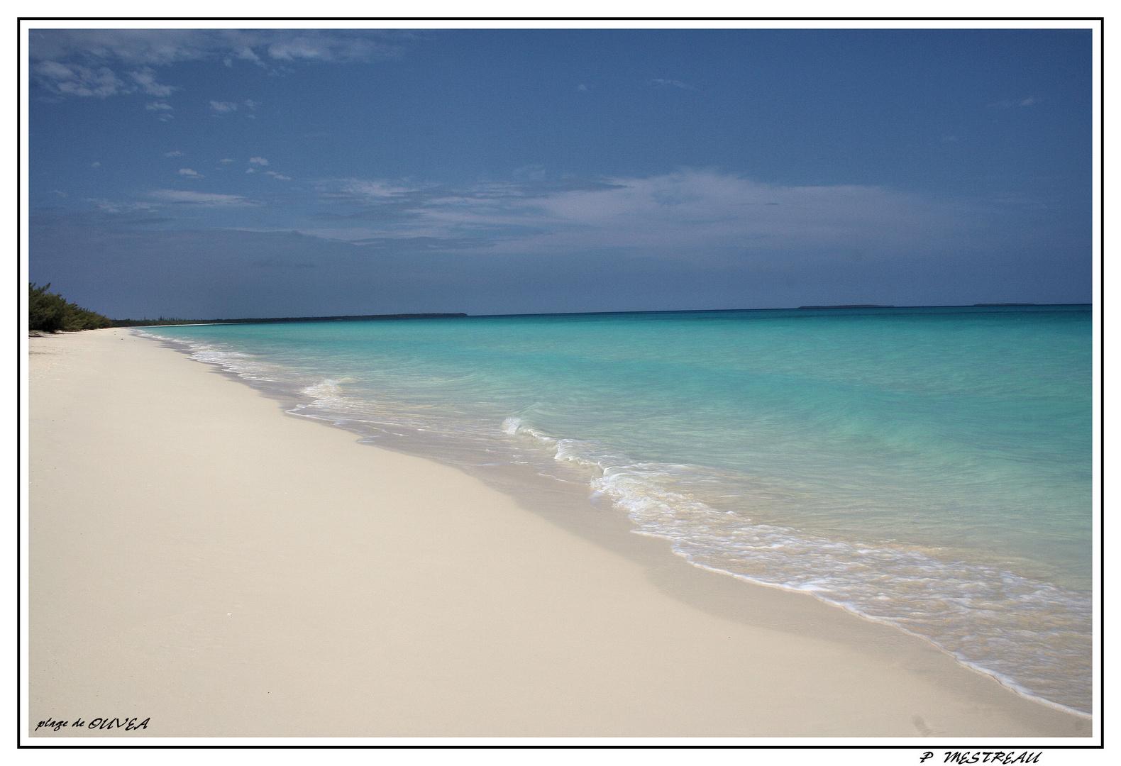 une partie de la plage d'ouvea qui fait 25 km !!