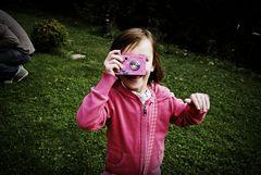 Une photographe en herbe...