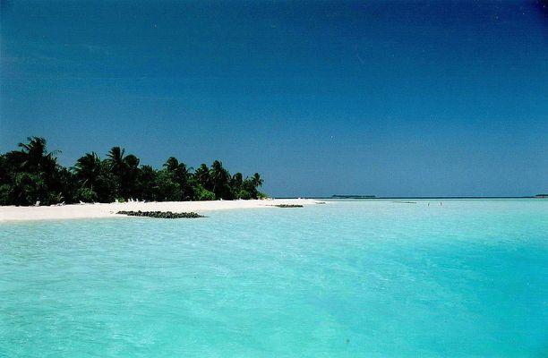 Une plage aux Maldives