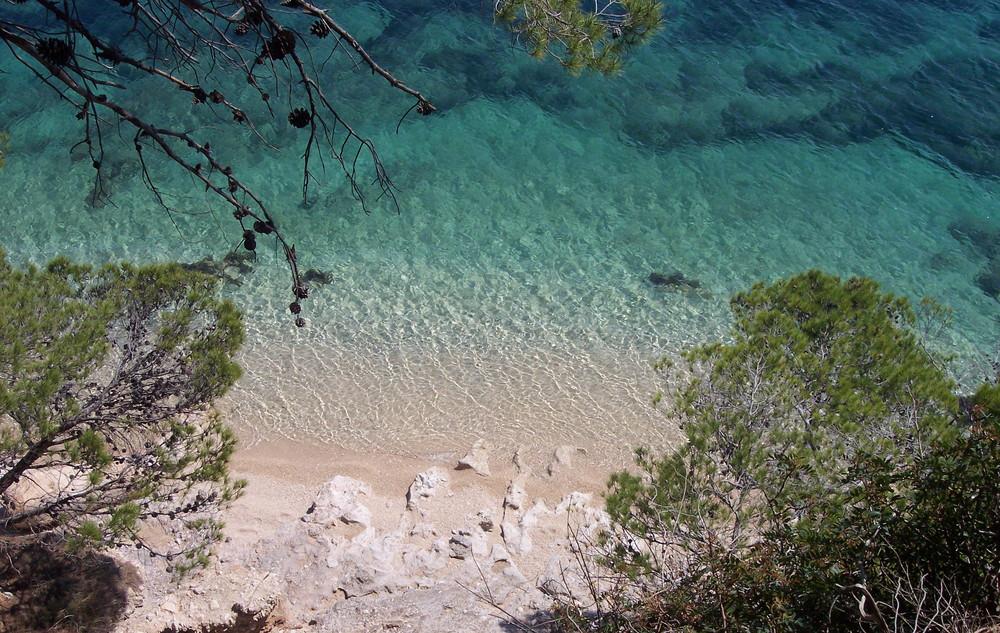 Une plage de Croatie