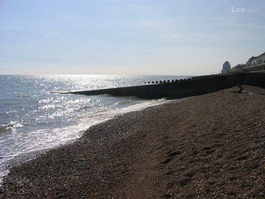 Une plage en Angleterre.
