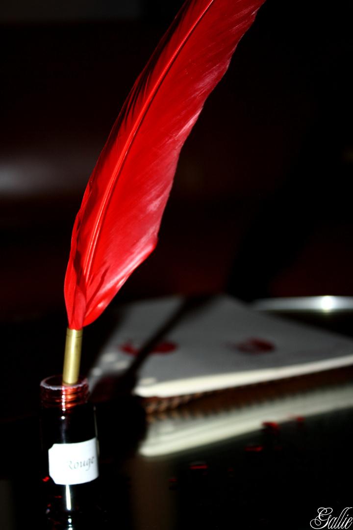 Une plume et de l'encre