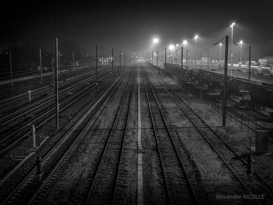 Une soirée hivernale en route pour Paris