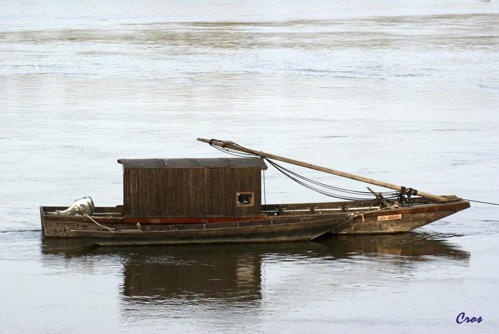Une toue cabanée sur la Loire