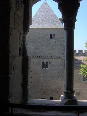 Une tour dans la cité de Carcasonne