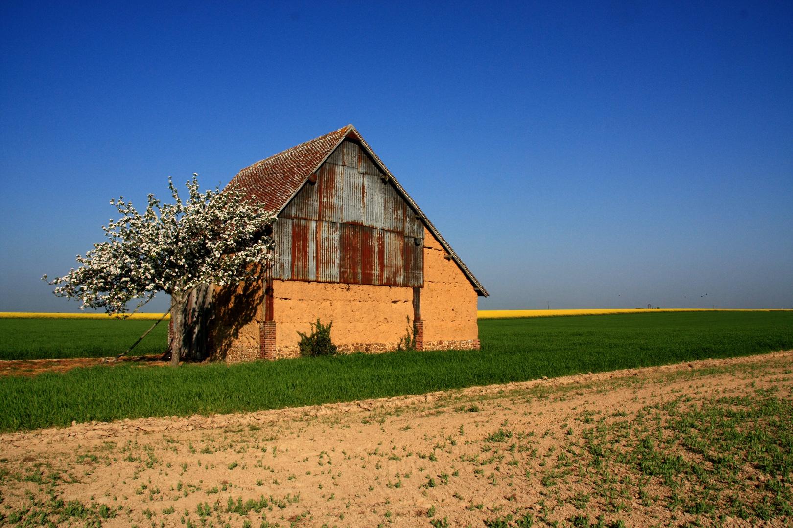 Une vieille grange dans le Perche.