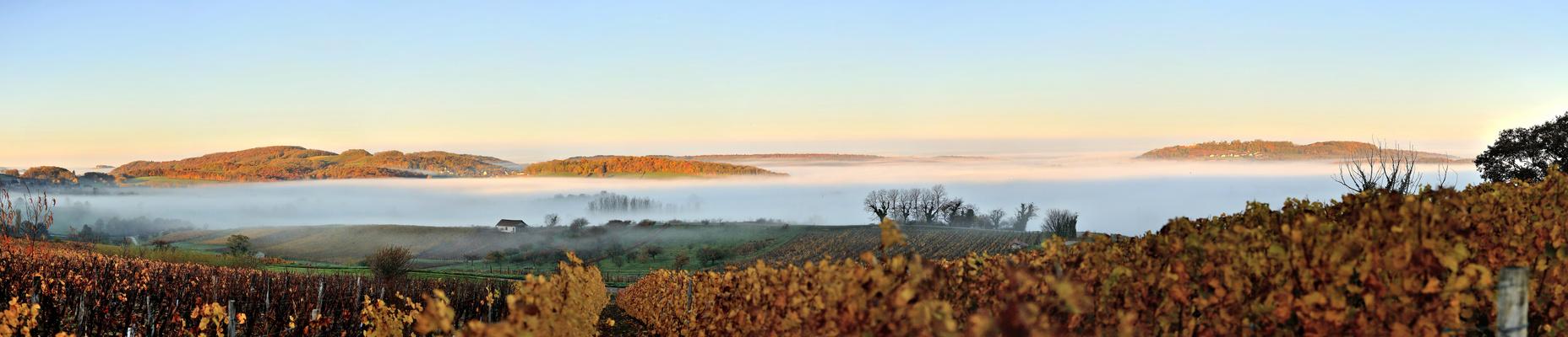 Une vue d'automne depuis Passenans