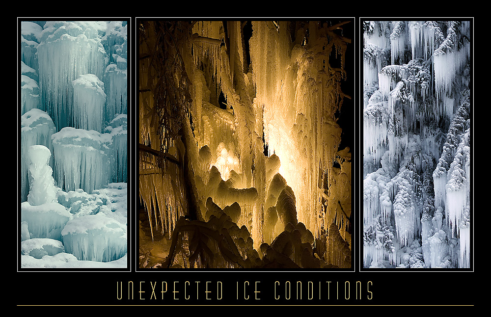 UNEXPECTED ICE CONDITIONS