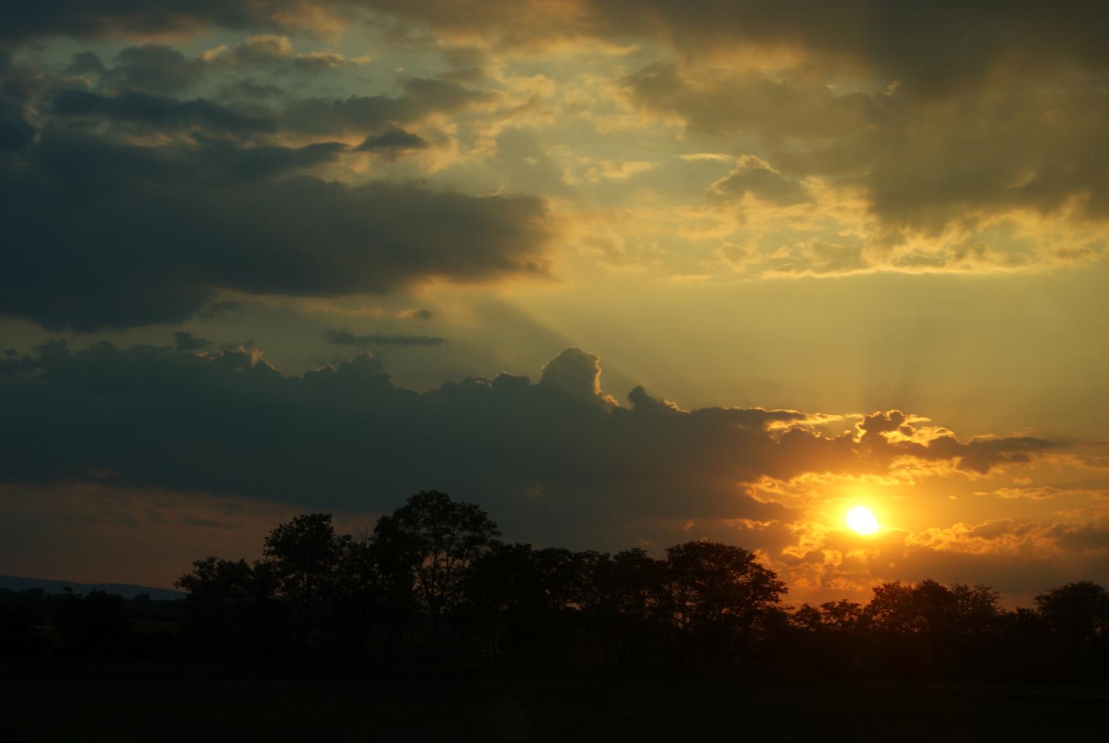 Ungarischer Sonnenuntergang