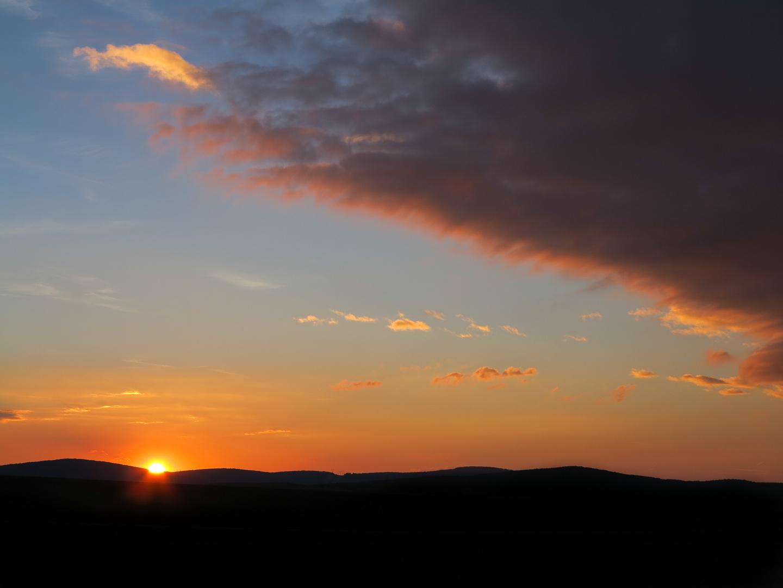 Ungarn Sonnenuntergang