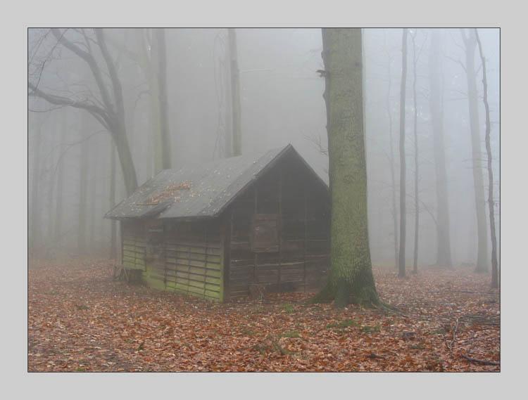 unheimliche h tte bild foto von luk s aus 11 02 nebel fotografie 293165 fotocommunity. Black Bedroom Furniture Sets. Home Design Ideas