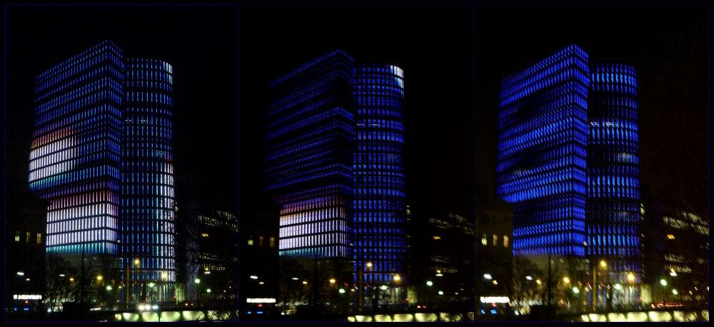Uniqa-Tower, Lichtspiel