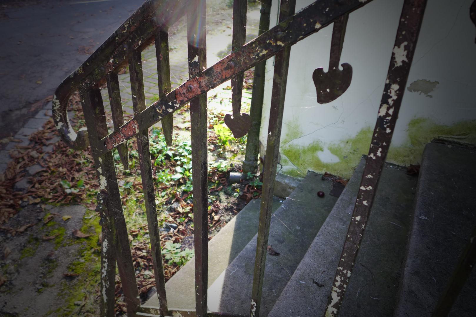 Unscheinbare Treppe