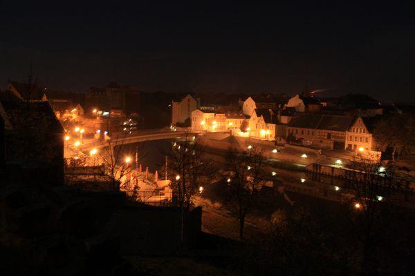 Unser Bernburg bei Nacht
