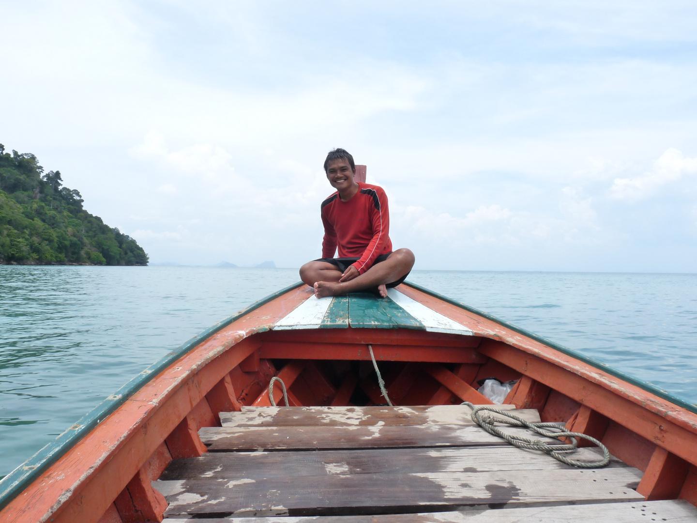 unser freundlicher Bootsführer