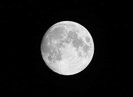 Unser Mond, gestern Abend...