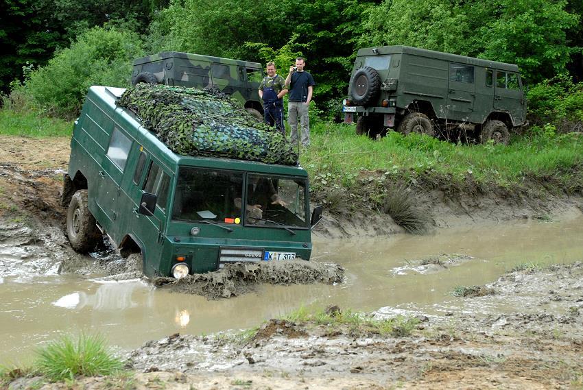 Unser Volvo mag Wasser