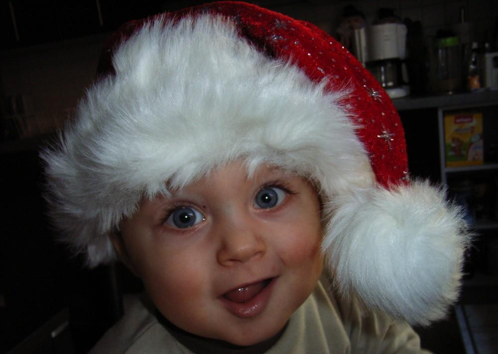 unser Zwerg feiert sein erstes Weihnachten