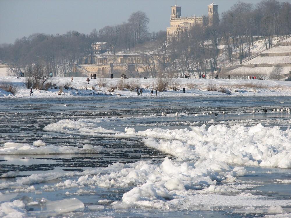 unsere Elbe im Januar