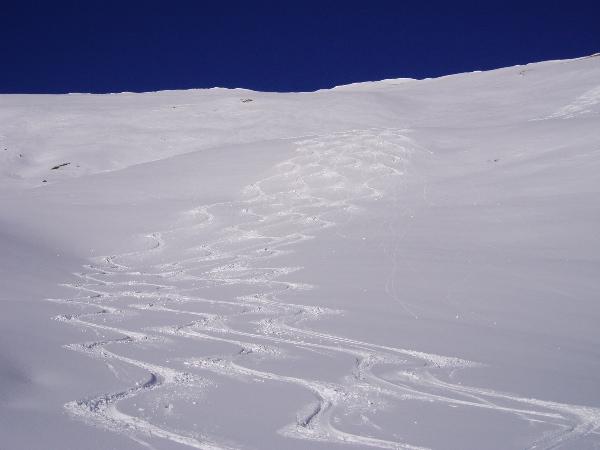 unsere Spuren im Schnee