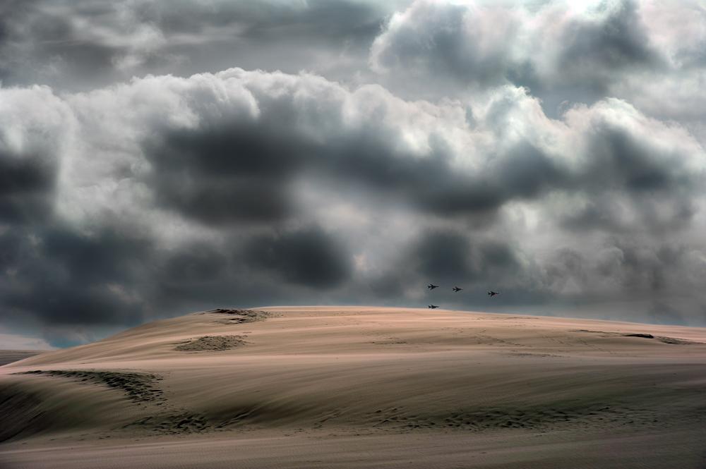 unten den Wolken