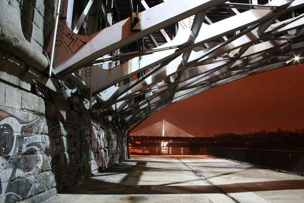 unter den Brücken von Warschau
