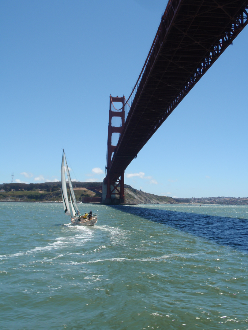 Unter der Golden Gate Bridge
