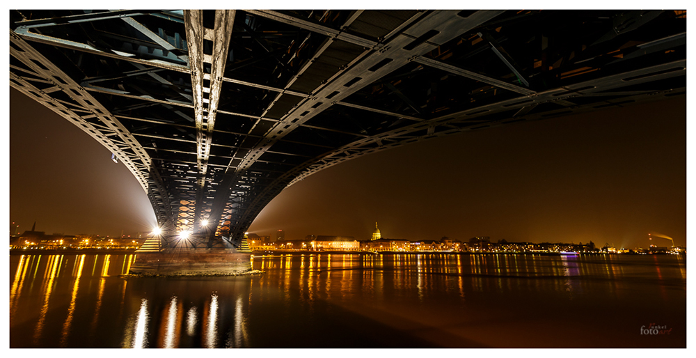 Unter der Theodor Heuss Brücke Mainz