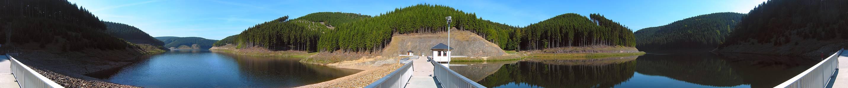Unterbecken und Vorsperre (Pumpspeicherwerk Goldisthal)