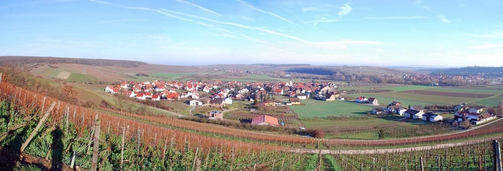 Untereisenheim, bevor der Schnee kam...