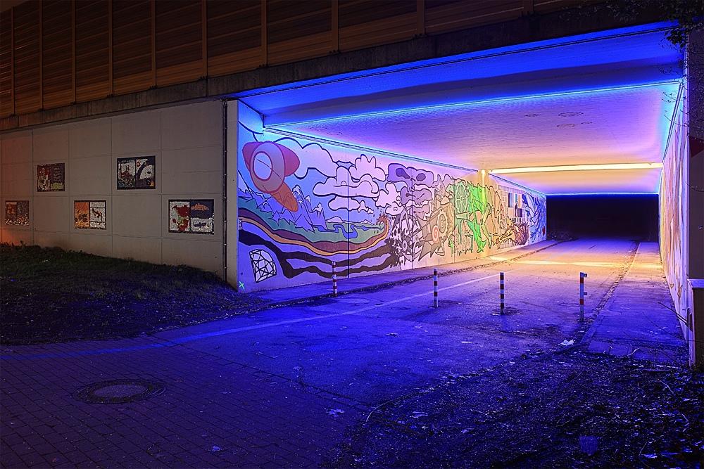Unterführung A42 - Lichtinstallation Vondern