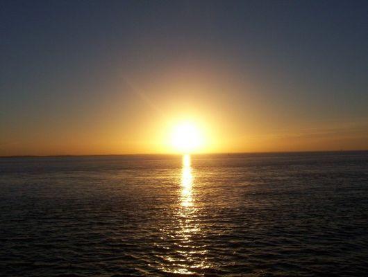 Untergang der Sonne an der Elbe II