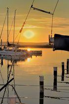 Untergehende Sonne am Neusiedler See